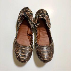 Lucky Brand Emmie Snakeskin Ballet Flats